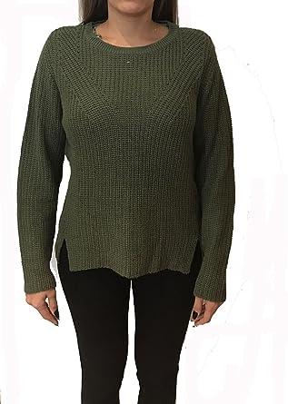 3ef5b1bf3 Zara Womens Casual Split Detail Knit Jumper in Olive UK XL  Amazon.co.uk   Clothing
