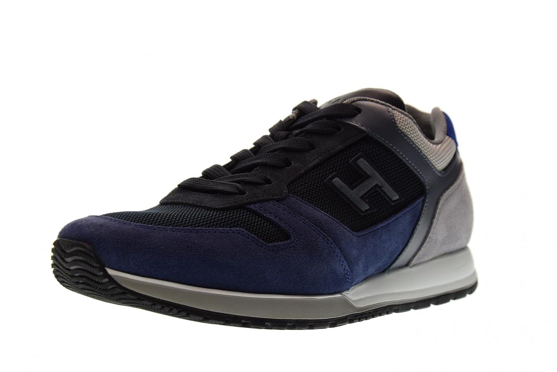 Hogan Zapatos Hombres Zapatillas Bajas HXM3210Y861I7J785K H321 43 EU|Azul / Gris