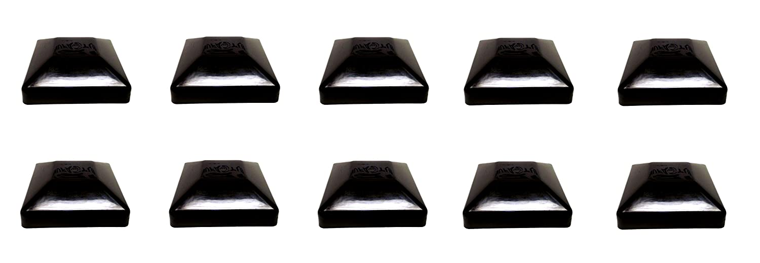 BLACK-6X6 FENCE POST PLASTIC CAP- Pick a Pack (5 5/8 X 5 5/8) Pressure Treated Wholesale/BULK pricing (10) JSP Manufacturing