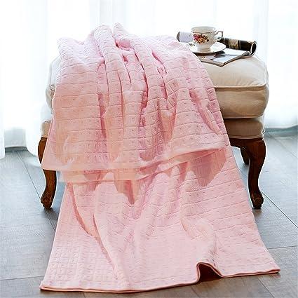 Primavera y Verano mantas las toallas Pure algodón único doble gasa más grueso aire acondicionado manta