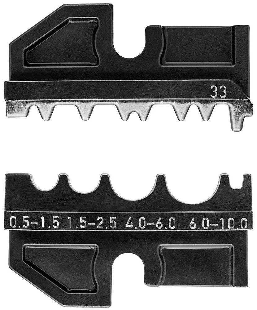 Knipex 97 49 14 Dies for Non-Insulated Crimp Terminals, Black