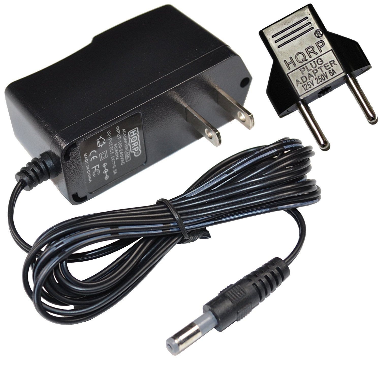 HQRP AC Adapter for Panasonic KX-TG4731C, KX-TG6641, KX-TG6642C, KX-TG4732, KX-TG4732C Cordless Phone, Power Supply Cord Charger + HQRP Euro Plug Adapter 887774805301410