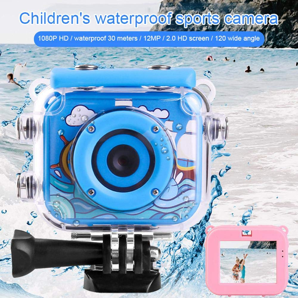Support 32GB SD Card for Children,Boys,Girls Swimming WooyMo Kids Underwater Camera 12MP 1080P Waterproof Digital Camera Kids Action Camcorder with 2.0 inch HD Screen