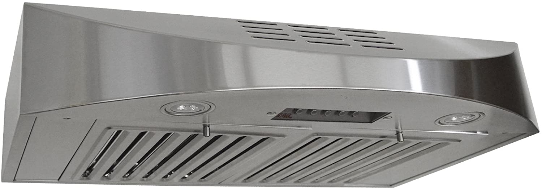 Amazon Com Kobe Chx3830sqbd 3 Brillia 30 Inch Ductless Under Cabinet Range Hood 3 Speed 400 Cfm Led Lights Baffle Filters Home Improvement