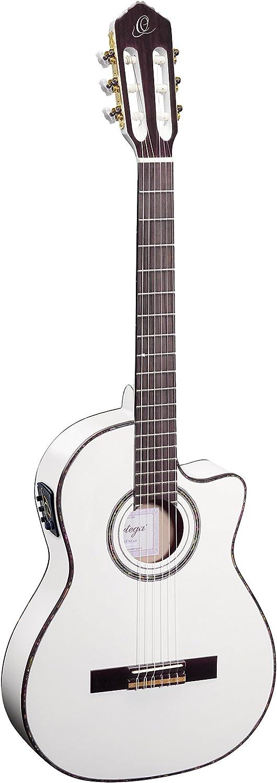 Ortega RCE145WH - Guitarra electroacústica (abeto macizo y caoba ...