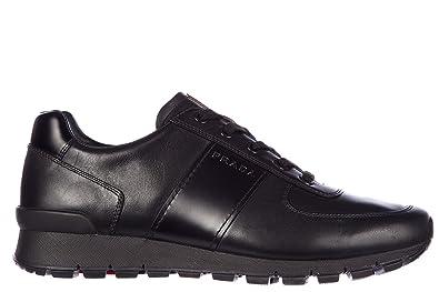 best loved 3c1dd 3b111 Prada Herrenschuhe Herren Leder Schuhe Sneakers Plume ...