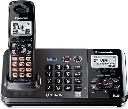 Panasonic KX-TG9381T - Teléfono (DECT, Escritorio, Negro, LCD, AAA, Monocromo): Amazon.es: Electrónica