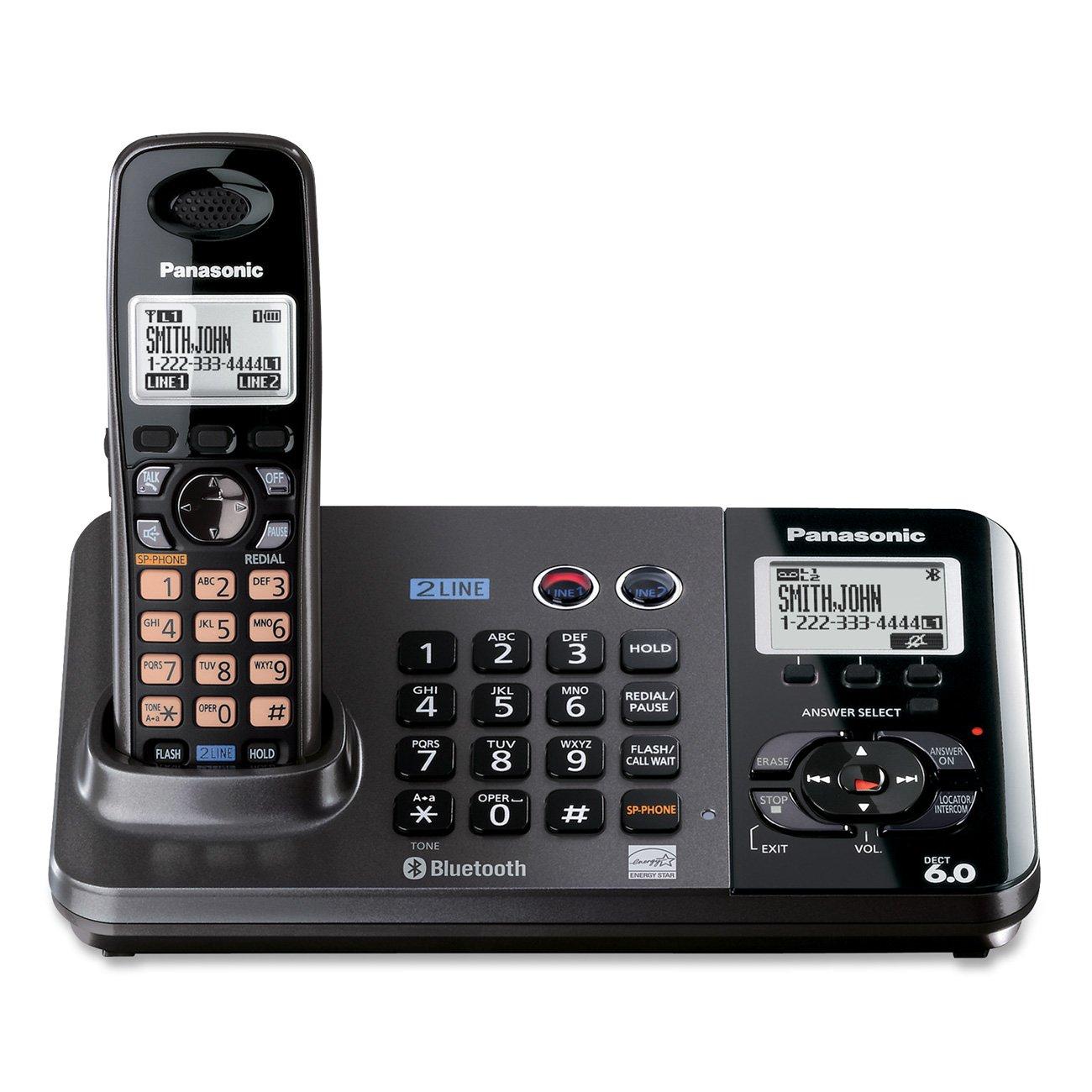 Panasonic Wireless Phone Wire Center Electronic Circuit Diagram Cxa1034pm Audio Amplifier Amazon Com Kx Tg9382t 2 Line Expandable Digital Cordless Rh