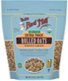 Bob's Red Mill Organic Extra Thick Rolled Oats, 32 OZ (Pack of 2)
