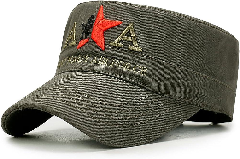 Yooeen Military Army Cap Herren Vintage Milit/är M/ütze Verstellbar Armym/ütze Baumwolle Baseball Cap Kappe mit Gute Qualit/ät Stickerei