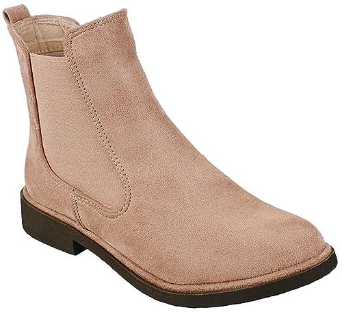 JJF Shoes - Botines de Vaquero Gore Chelsea de tacón bajo sin Cordones, elástico para Mujer: Amazon.es: Zapatos y complementos