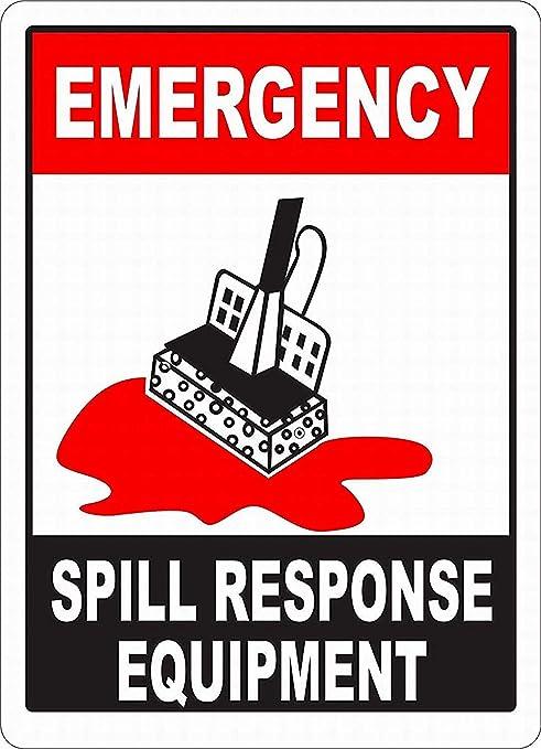 Emergency Spill Response Equipment Póster de Pared Aluminio ...