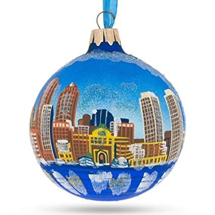 Amazon Com Boston Massachusetts Glass Ball Christmas Ornament 3 25