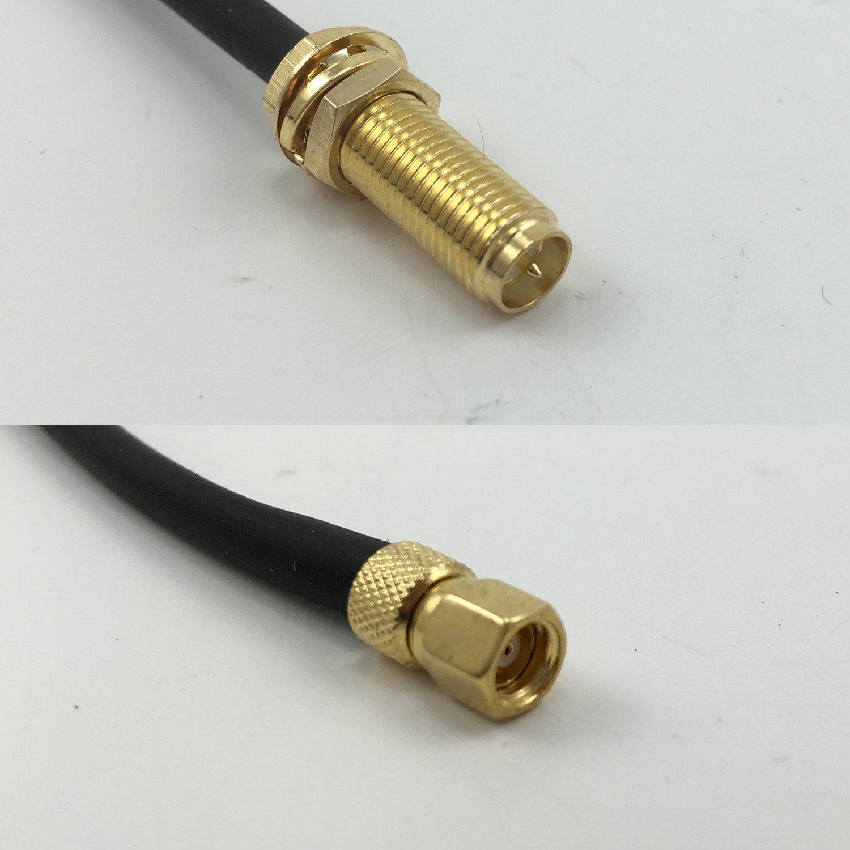 RG316 RP-SMA - Cable coaxial RF de Alta Calidad DE 50 Ohm, Largo a ...