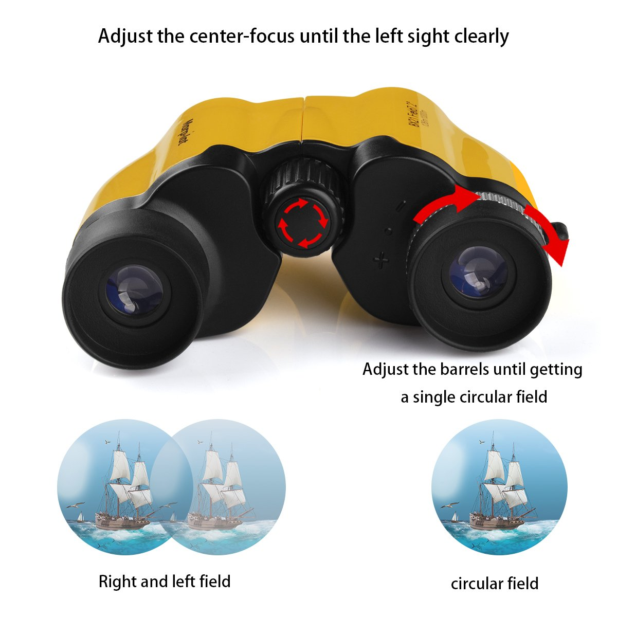 Morpilot 8X21 Folding Small Compact Binoculars ,Great for Adults Kids Clear Bird Watching Wildlife Hiking Camping Traveling Outdoor Sports Games and Concerts