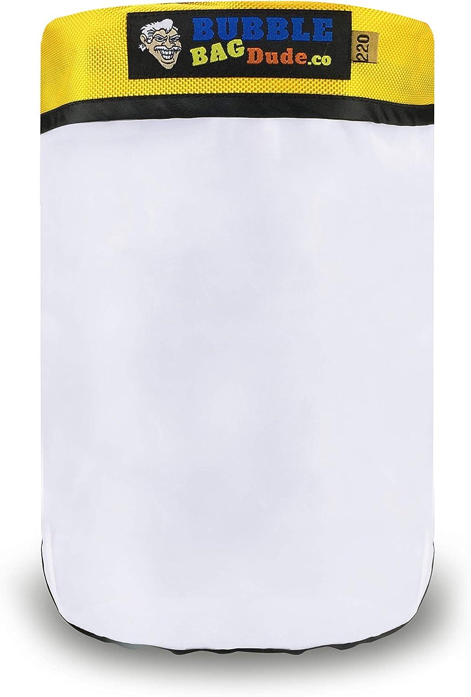 Bolsa con cremallera de 220 micras para máquina de burbujas Ice Now Magic, extractor de hierbas, bolsa de calidad, duradera y reutilizable de BubbleBagDude, 19 litros
