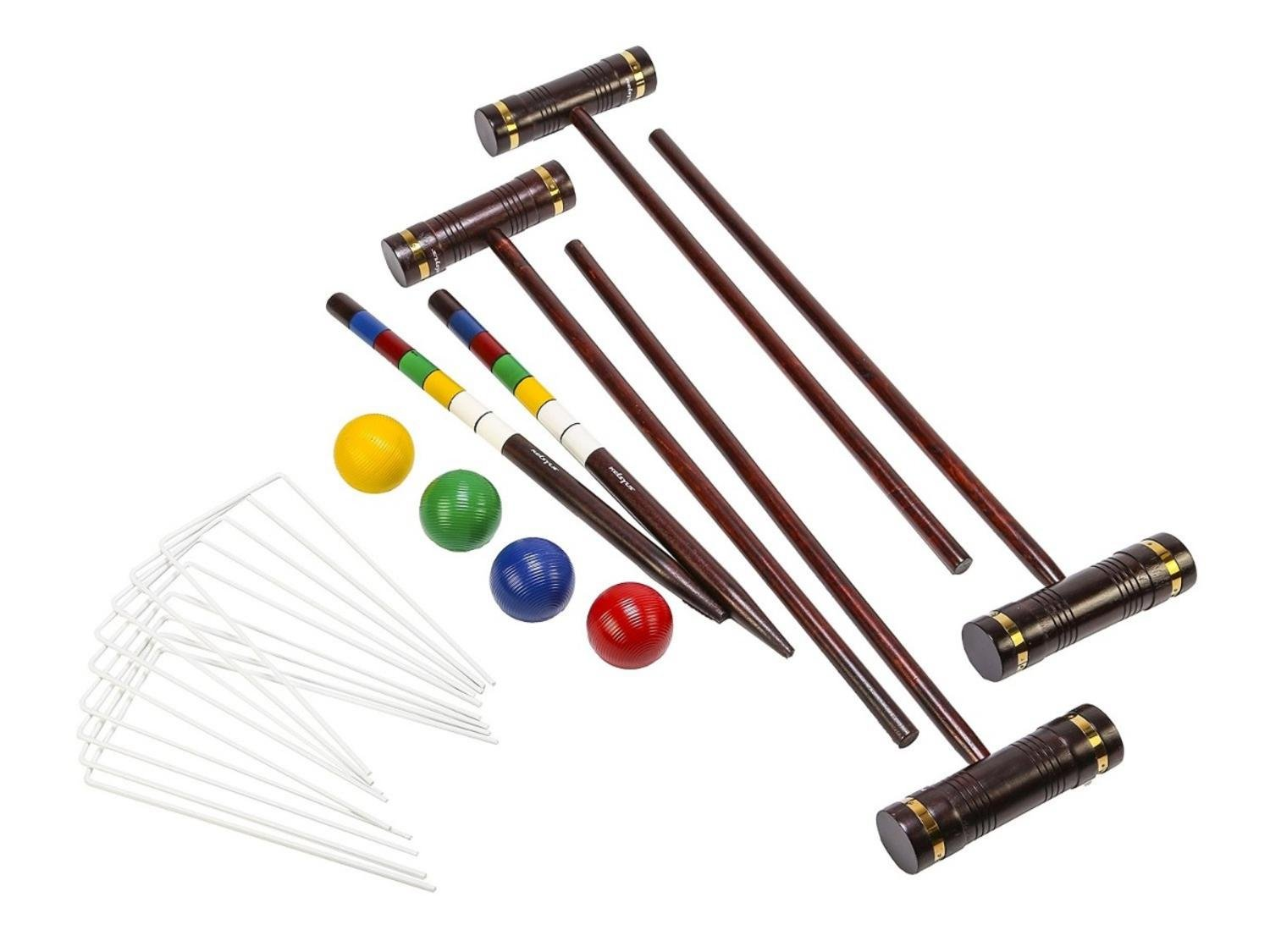 Kelsyus Premium Wooden Croquet Recreational Game Set by Swimway