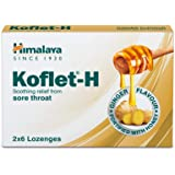 Himalaya Herbals Koflet H, Ginger Flavor, Soothing Relief From Sore Throat Pain, Contains Real Honey, Herbal Lozenge