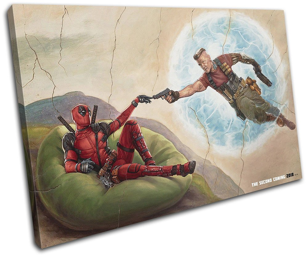 Bold Bloc Design - Deadpool 2 Poster Film Movie Greats 90x60cm Single Leinwand Kunstdruck Box gerahmte Bild Wand hangen - Bereit Zum Aufhangen - Canvas Art Print 13-2539(00B)-SG32-LO-D