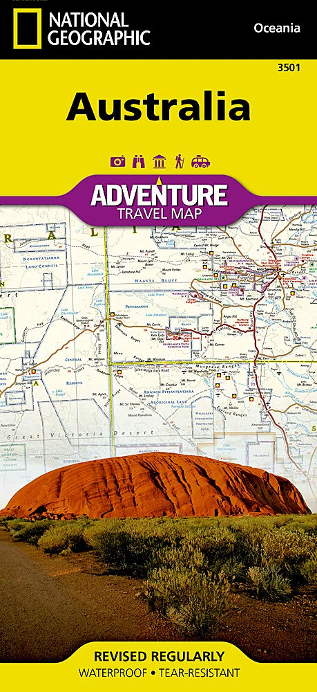 Map Of Australia 2016.Australia National Geographic Adventure Map National Geographic