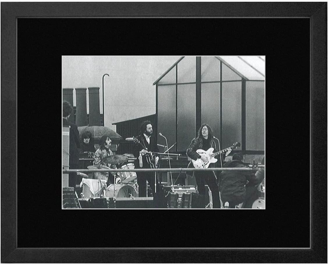 Beatles - On The Roof of Apple Corps Ltd 1969 Framed Mini Poster - 23.5x28.5cm