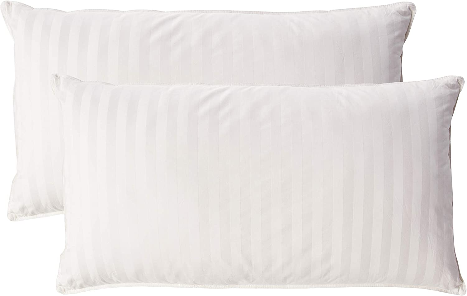 350 Thread Count Hypoallergenic Natural Filled Pillow -Stripe Pattern (Pack of 2)
