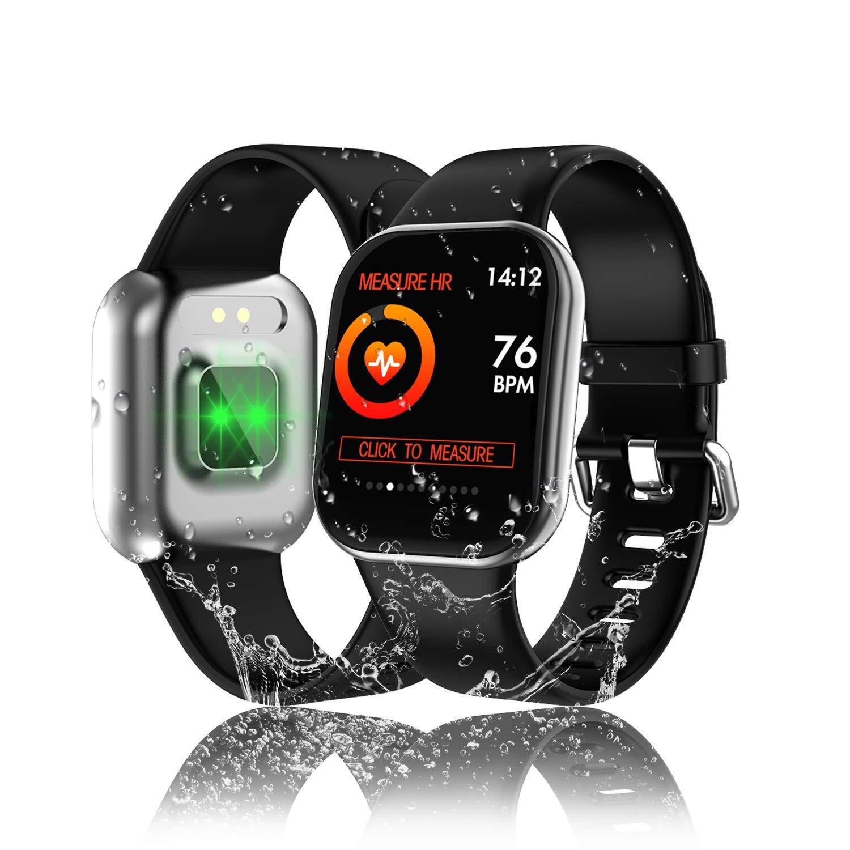 Tipmant Reloj Inteligente Mujer Hombre Smartwatch Pulsera de Actividad Pantalla Táctil Completa Impermeable IP68 Pulsómetros Podómetro Cronómetro ...