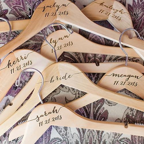 Personalized Bride Hanger,a Set Wedding Hanger,Engraved Wedding Hanger,Wedding Dress Hanger,Groom Hanger
