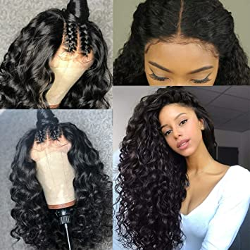 4de3ec5d8 Brazilian Glueless Full Lace Wig With Baby Hair Loose Wave Virgin Human  Hair Wigs For Black