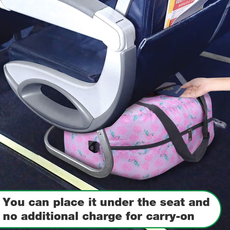 Wandf Foldable Travel Duffel Bag Luggage Sports Gym Water Resistant Nylon