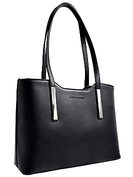 61ea744095 David Jones - Sac à Main Cabas Fourre-Tout Femme Style Cuir Véritable - Sac  Shopping Rigide à ...