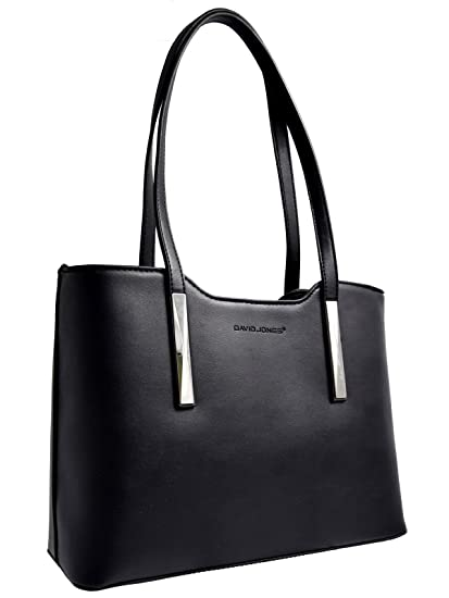 aa6bb6a0411 David Jones - Women top-handle bag with long handles - Imitation smooth  leather -
