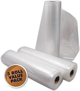 "Weston 8"" W X 22'L Vacuum Sealer Bag Rolls, 3-Pack"