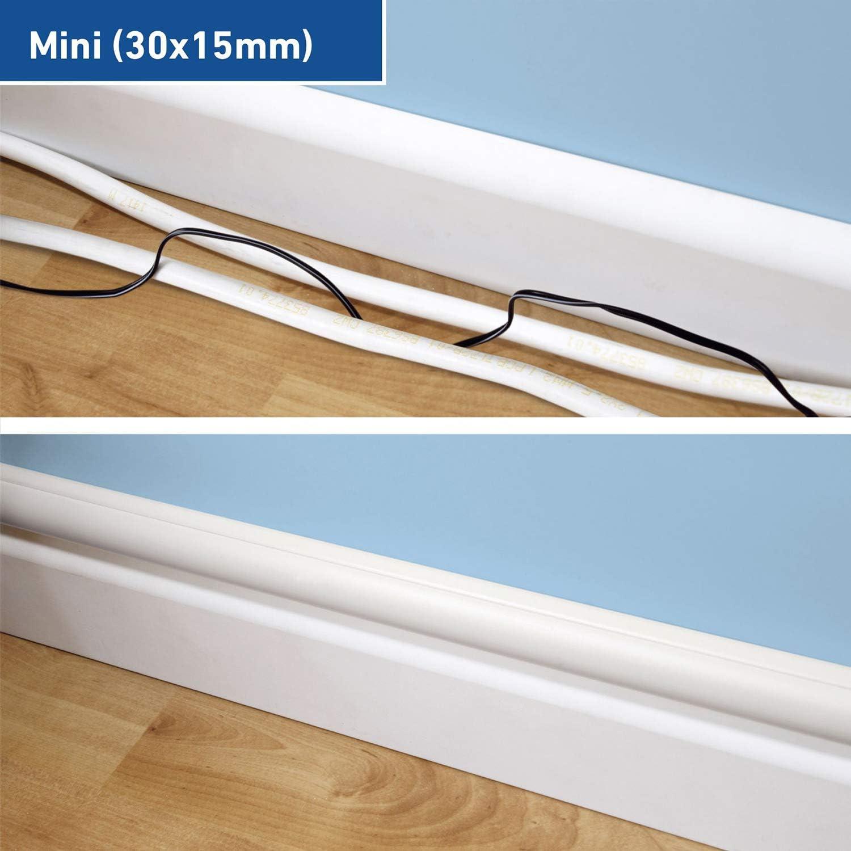 D Line 1d3015w 2pk Mini Kabelkanal Zur Kabelführung Kabelleiste 2 X 30x15 Mm 1 M Länge 2 Meter Weiß Garten