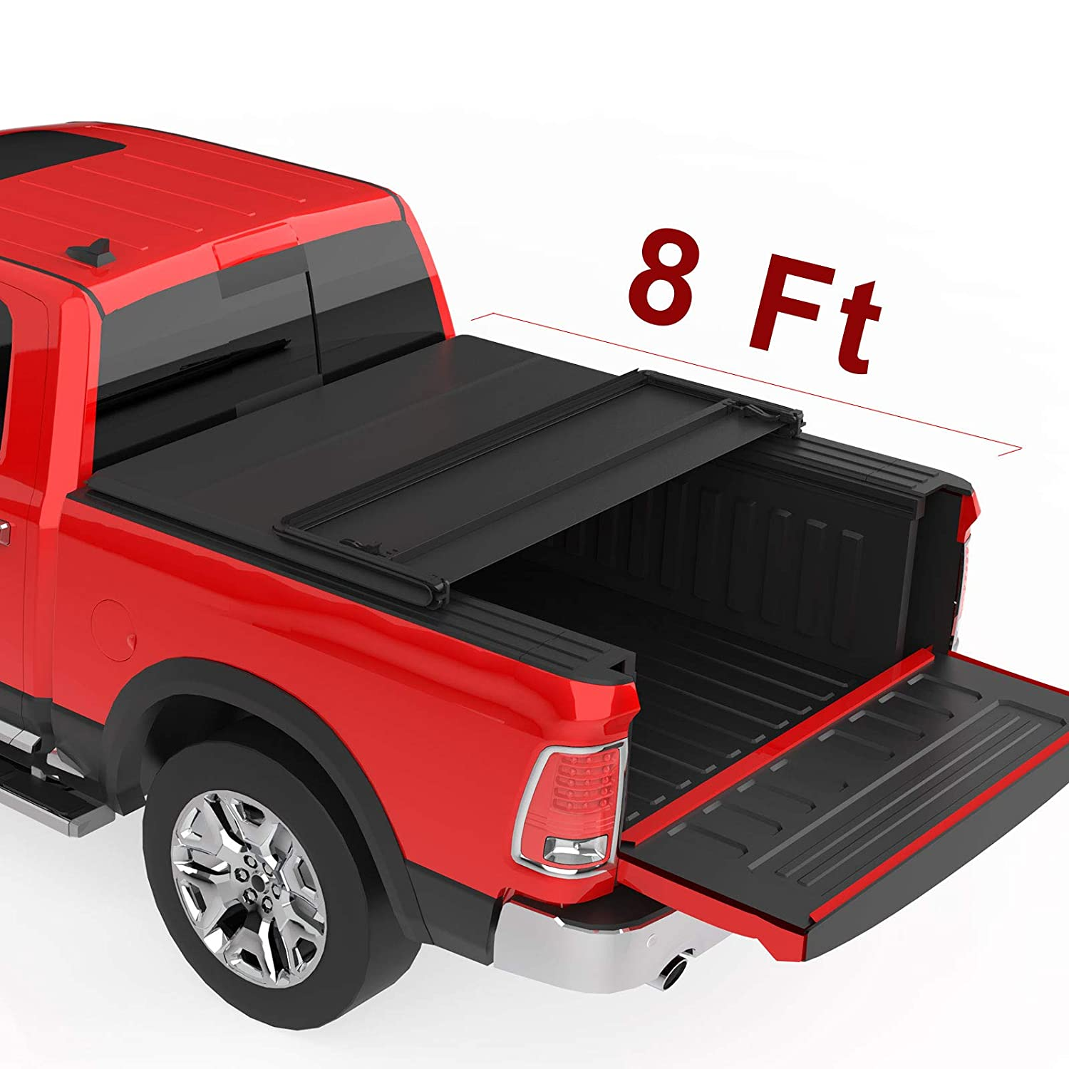 2003-2018 Dodge Ram 2500 3500 with 6.4ft Bed oEdRo Upgraded Soft Tri-fold Truck Bed Tonneau Cover On Top Compatible for 2002-2019 Dodge Ram 1500 Fleetside Without Ram Box Only 2019 Classic