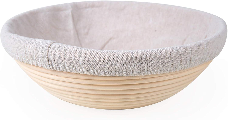 DEDC 6 Pcs Rond Doublure en Tissu pour Banneton Corbeille /à Pain Proofing Couverture de Tissu de Panier de Pain au Levain 10 Pouces