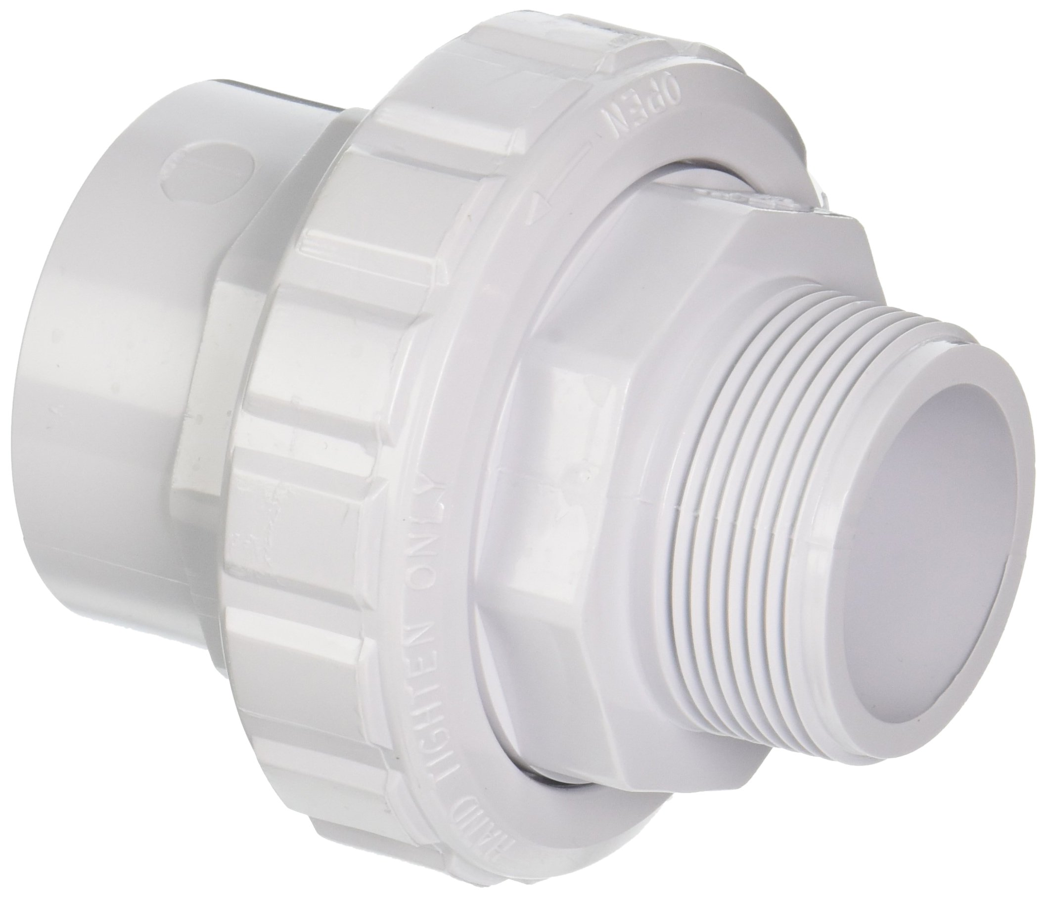 Hayward SP14953S 1-1/2-Inch MIP by 1-1/2-Inch Socket White ABS Flush Male/Female Socket Union by Hayward (Image #1)