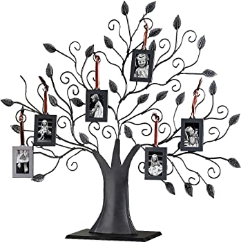 Klikel Bronze Metal Family Tree w/6 Hanging Picture Photo Frames