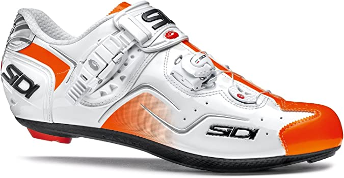 Sidi KAOS Road Cycling Shoes - White Orange Fluo