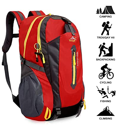 611a6084a397 Amazon.com: ZZW Outdoor Breathable Backpack, Green/Red Leisure ...