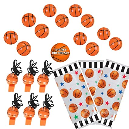 amazon com basketball party favors for 12 bouncy basketballs 12