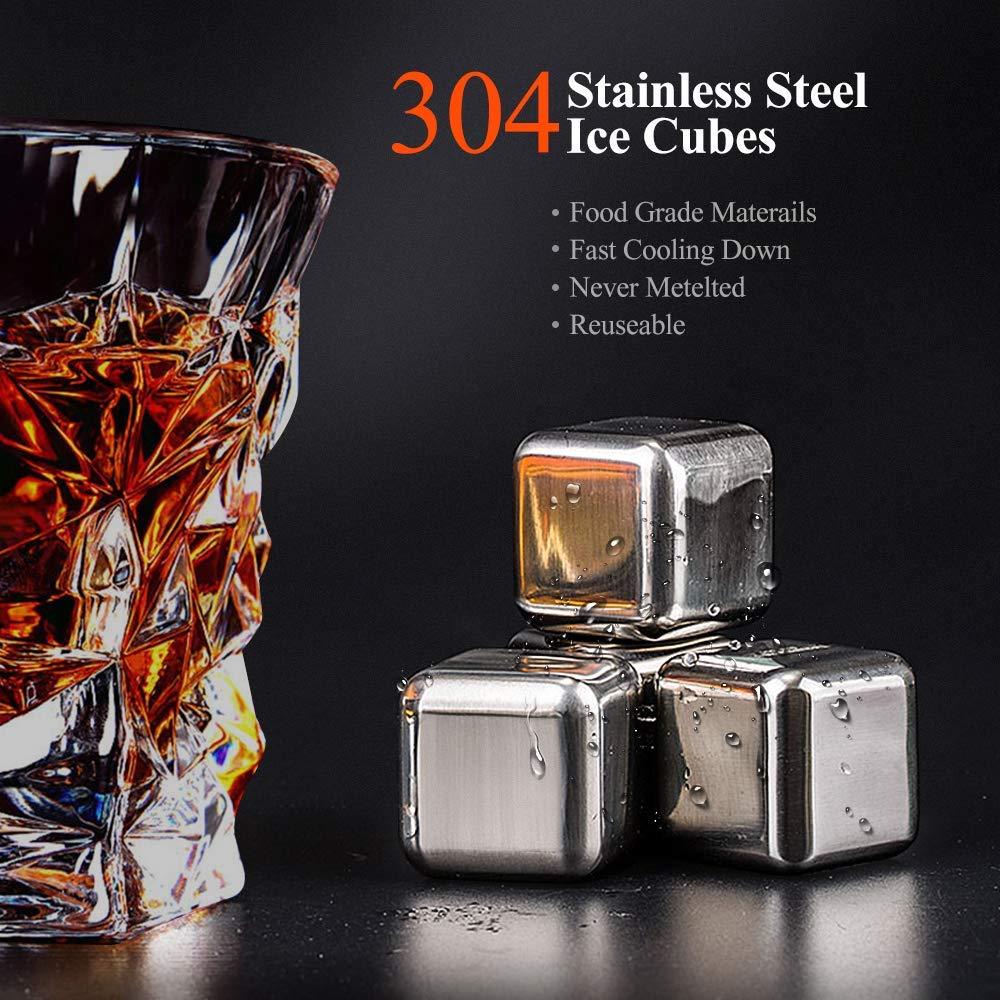 Vasos de Whisky Iceberg Kollea Juego de 2 vasos de whisky reutilizables para enfriar bebidas sin diluci/ón regalo de cumplea/ños regalo de Navidad