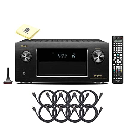Denon AVR-X3500H 7 2CH 4K Ultra HD AV Receiver with Built-in HEOS Wireless  Multi-Room Audio Technology and Alexa Voice Control Package with 8 HDMI