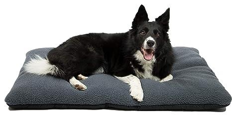 ZOLLNER Cama para Perros, colchoneta para Mascotas, 70x100 cm, Lavable, Gris