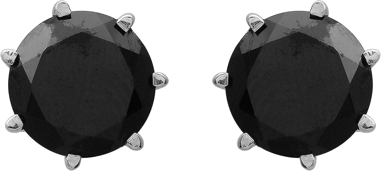 Espinela negra piedra mujer boda pendientes de plata 925 joyas