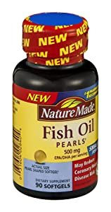 Nature Made Fish Pearls Dietary Supplement Softgels , 90 CT (Pack of 3)