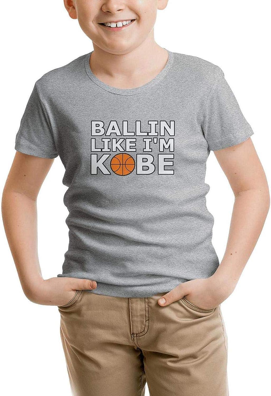 Kids Short Sleeve T-Shirt Sports Mamba Crazy Pure Tee for Boys
