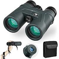 TELMU Jumelles 10 * 42mm HD Ultra Compactes Lumineux Astronomiques, Enfants Adultes Tourisme, Regarder Sports et Spectacle Excursion, Observation des Oiseaux