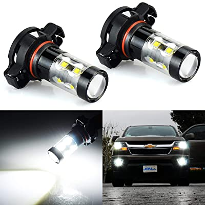 JDM ASTAR Bright White Max 50W High Power 2504 PSX24W LED Fog Light Bulbs: Automotive