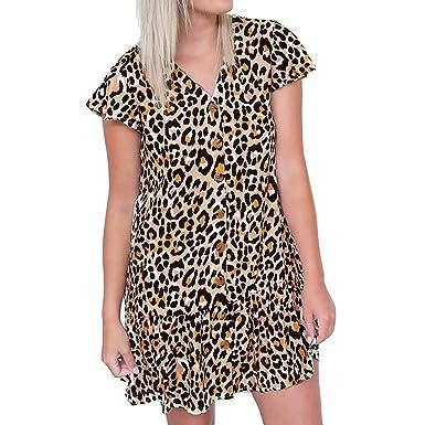 1f4191e7936c CLUSHM Women s Dresses Sling Casual Loose Dresses Summer Dress Short Dresses  (S) Yellow